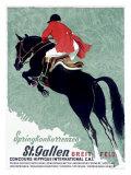 Horse Jumper Show Giclee Print
