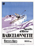 Barcelonnette Giclee Print by  Michel
