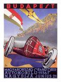 Grand Prix de Hongrie Impression giclée par Emil Gerster
