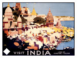 Visit India by Rail Giclee Print