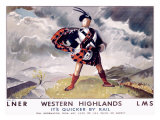 LNER, Western Highlands Giclee Print