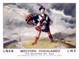 LNER, Western Highlands Giclee Print