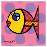 Poisson à pois Affiches par Romero Britto