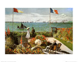 Balcony on the Sea at Saint Adresse Affiches par Claude Monet