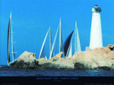 Maxi Yacht Cup -Port Cervo Print by Carlo Borlenghi