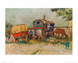 Caravans Encampment of Gypsies Prints by Vincent van Gogh