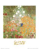 Flowery Garden Print van Gustav Klimt