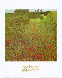 Campo de papoulas Posters por Gustav Klimt
