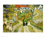 Stairway At Auvers Posters van Vincent van Gogh