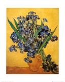 Vase d'iris Affiche par Vincent van Gogh