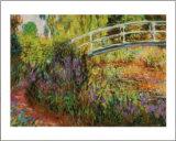 Puente japonés Pósters por Claude Monet