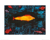 Der goldene Fisch Poster von Paul Klee