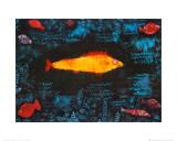Der goldene Fisch Poster von Paul Klee