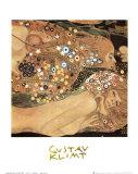 Vesikäärmeet II (Water Serpents II), noin 1907 (yksityiskohta) Posters tekijänä Gustav Klimt