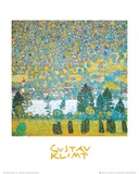 Mountain slope at Unterach Posters by Gustav Klimt