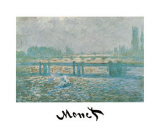 Charing Cross Bridge Prints by Claude Monet