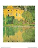 Schloss Kammer at Attersee Affiches van Gustav Klimt