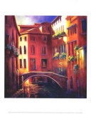 Sunset in Venice Art by Nancy O'toole
