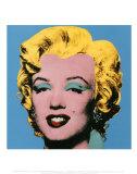 Marilyn Monroe su sfondo azzurro, 1964 Stampe di Andy Warhol