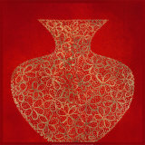 Vase rouge Poster par Susan Gillette