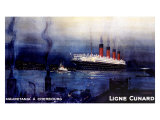 Cunard Line, Mauretania to Cherbourg Giclee Print by Kenneth Shoesmith