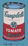 Campbell's Soup Can, 1965 (Pink and Red) Art by Andy Warhol