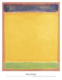 Sans titre (bleu, jaune, vert sur rouge), 1954 Affiches par Mark Rothko