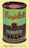Campbell's, lata de sopa, 1965, verde e roxa Posters por Andy Warhol