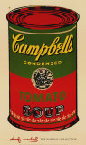 Campbell's Soup Can, 1965 (Green and Red) Print van Andy Warhol
