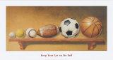 No pierdas de vista la pelota Poster por Lisa Danielle