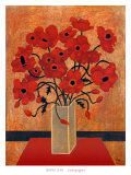 Scarlet Poppies Posters by Beverly Jean