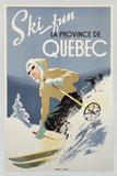 Esqui divertido na província de Quebec, 1948 Posters
