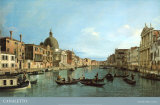 Venice: the Upper Reaches of the Grand Canal with S. Simeone Piccolo, c.1738 Prints by Canaletto