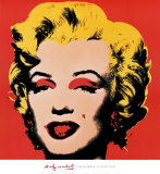 Marilyn, 1967 (On Red) Poster by Andy Warhol