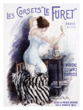 Corsets le Furet Giclee Print by Manuel Robbe