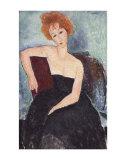 Donna con i capelli rossi Stampe di Amedeo Modigliani