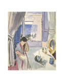 Woman Reading at a Dressing Table, Late 1919 Plakater af Henri Matisse