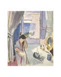 Mujer leyendo en el tocador, finales de 1919 Láminas por Henri Matisse