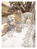 Alice in Wonderland, Madhatter Tea Party Giclee Print