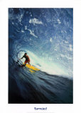 Barreled, North Shore Oahu, Hi Prints by D. King