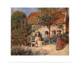 Garden Scene in Brittany, c.1886 Poster by Pierre-Auguste Renoir