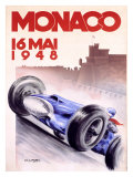 Monaco Grand Prix, 1948 Gicleetryck av Georges Mattei
