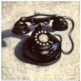Black Telephone Posters by Emily Adams