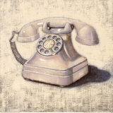 White Telephone Art by Emily Adams