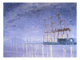 Pre-Dawn with Cranes Giclee Print by Mary Iverson