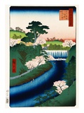Otonashi River Dam, Oji, Popularly Called Great Waterfall Giclee Print by Ando Hiroshige