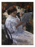 Woman Reading in a Garden Giclee Print by Mary Cassatt