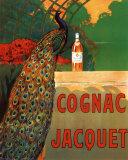Cognac Jacquet - Affiche vintage avec paon Photographie par Leonetto Cappiello