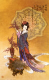 Lady with Plum Flowers Posters