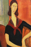 Young Woman with Scarf Print by Amedeo Modigliani